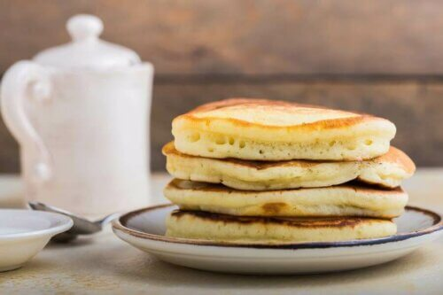Pancakes sans gluten avec deux ingrédients