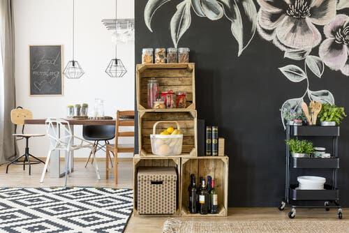 Divers meubles sont très utiles pour ranger la cuisine