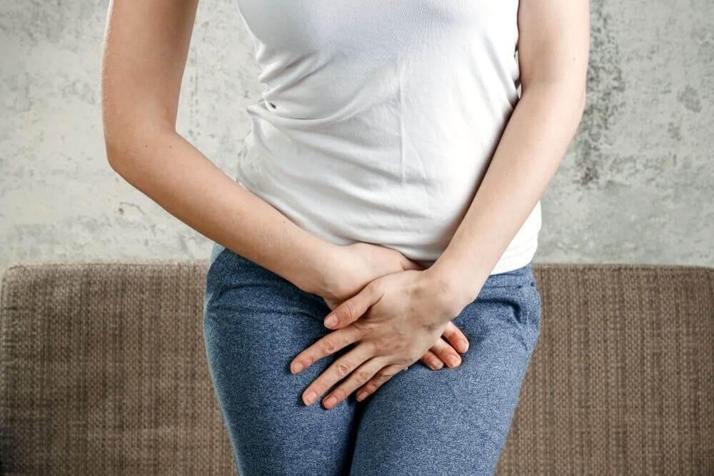 Une femme souffrant d'une infection à levures