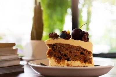 Gâteau au café et aux myrtilles sans sucre