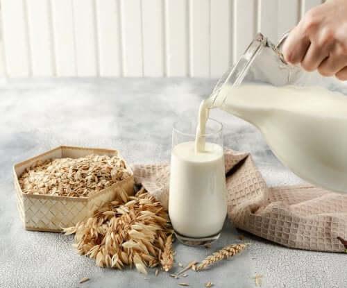 Le lait d'avoine dans le régime des personnes vegan