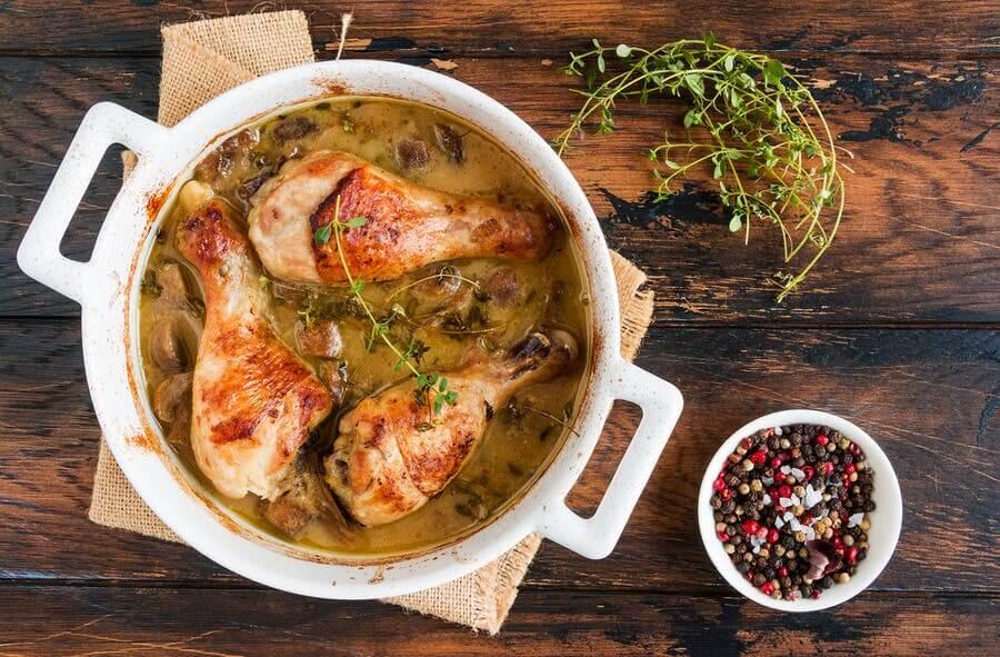 2 délicieuses recettes de poulet aux champignons