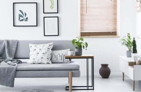 Un salon minimaliste.