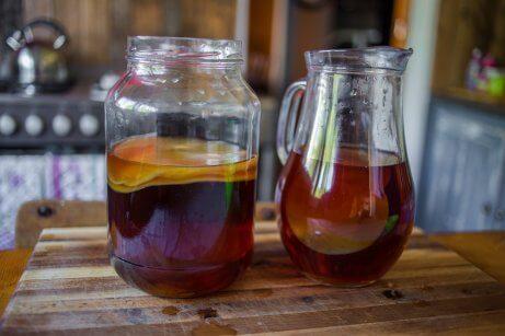 La fermentation du thé Kombucha