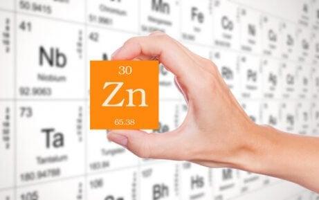 La formule chimique du zinc