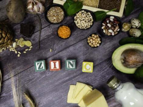Des aliments contenant du zinc.