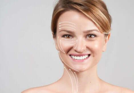 On peut avoir une belle peau grâce aux peptides de collagène.
