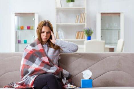 Une femme qui souffre de la leptospirose.