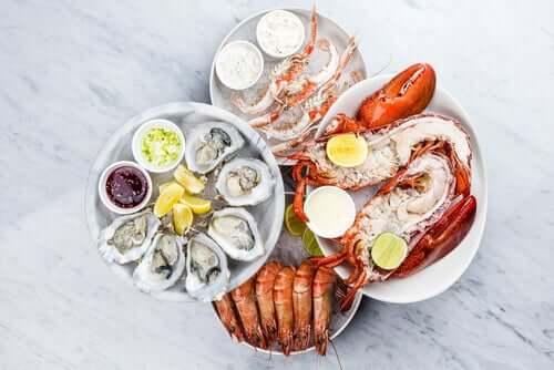 Le cholestérol dans les fruits de mer