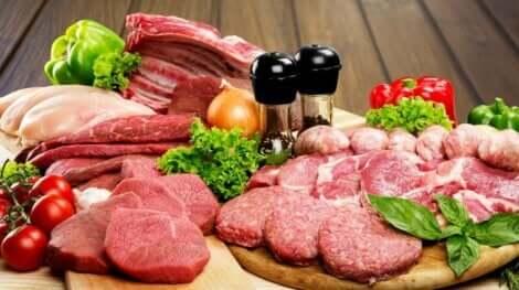 De la viande crue.