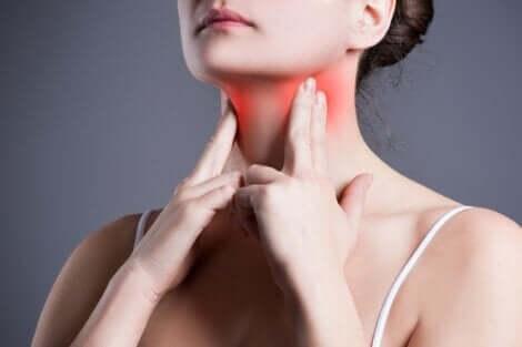 Inflammation de la gorge.