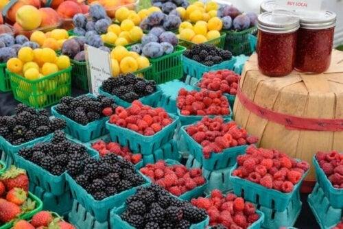Les fruits sont au coeur du régime alimentaire durable.