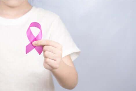 Ruban rose pour la lutte contre le cancer.