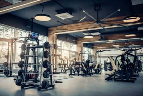 Une salle de sport vide.