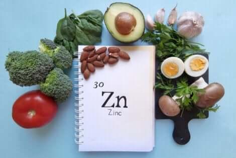Les aliments contenant du zinc.