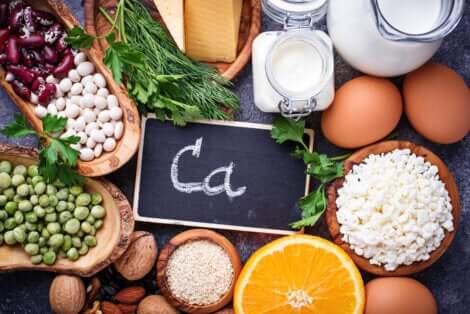 Les aliments avec du calcium.