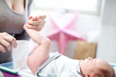 Les irritations cutanées chez le bébé.