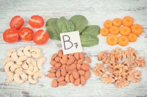 Des aliments contenant de la vitamine B.