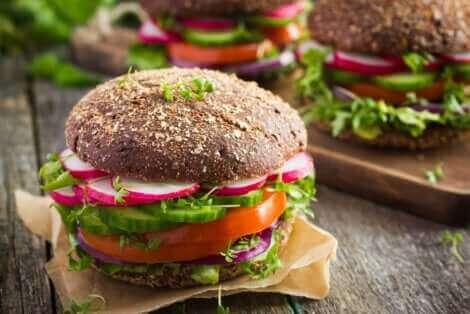 Un hamburger vegan.