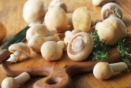 Une recette aux champignons.