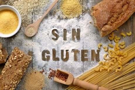 Aliments sans gluten.