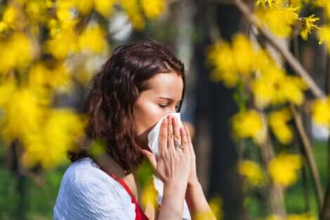 Une allergie chez une femme.