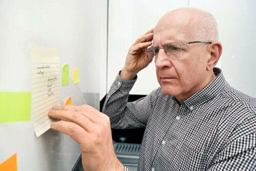 Les types d amnésie chez les personnes âgées.