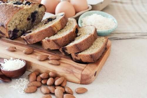 Recette de pain à la noix de coco et aux amandes