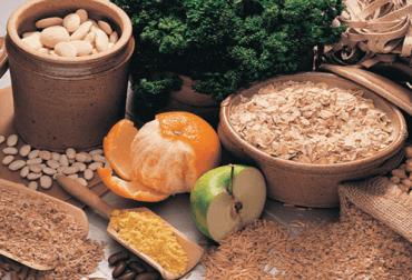 Des aliments riches en fibres.