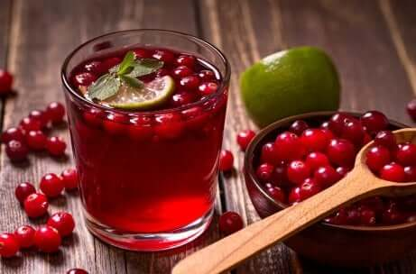 Une infusion de cranberry.