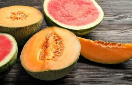 De la pastèque et du melon.