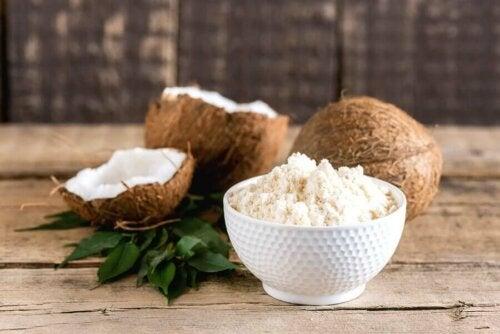 Une recette avec de la farine de coco.