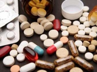 Assortiment d'analgésiques.
