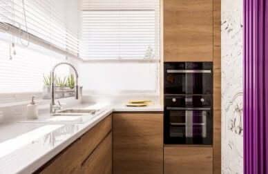Une cuisine minimaliste.