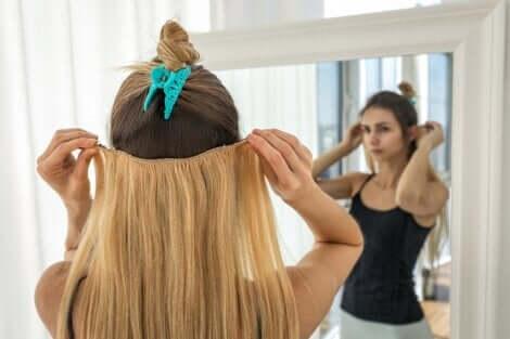 Des extensions de cheveux.