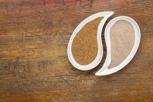 La farine de teff est sans gluten.