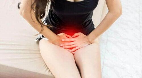 Le flux vaginal chez une femme.
