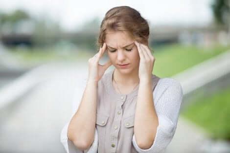 Une femme atteinte d'hyponatrémie.