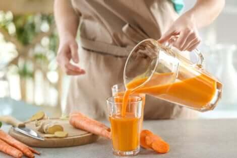 Smoothie aux carottes.