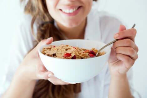 Un petit-déjeuner sain.