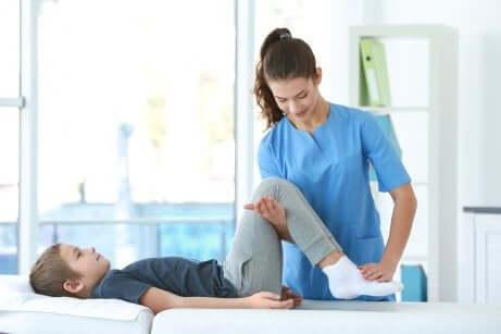 La physiothérapie pour enfants.