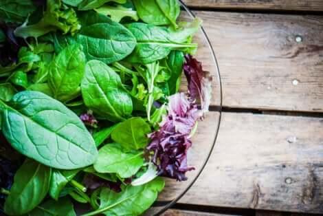 Une salade fraîche.