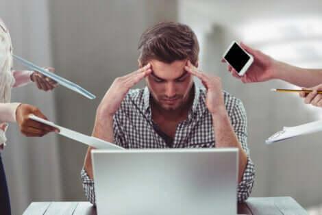 Le stress d'un homme.