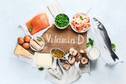 Des produits frais contenant de la vitamine D.