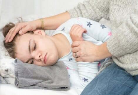 Crise d'épilepsie chez un enfant.
