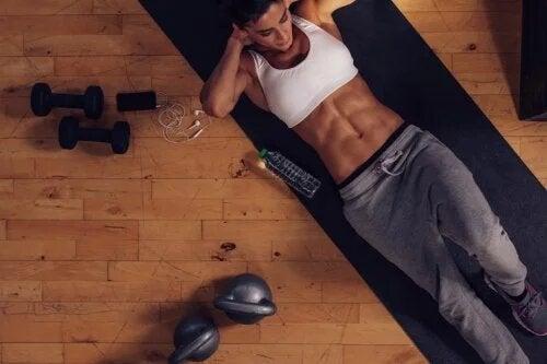 La tension latérale abdominale apparaît lors des séances sportives