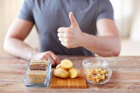 Des glucides dans l'alimentation.