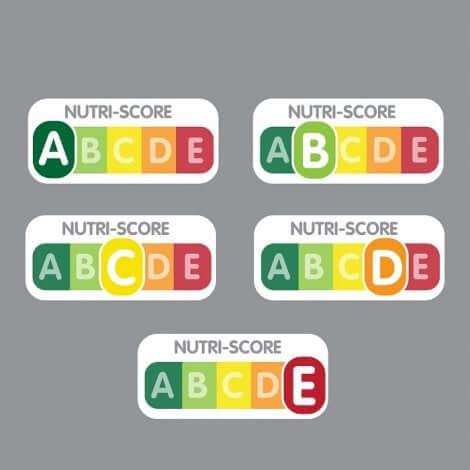 Les lettres du Nutri-Score.