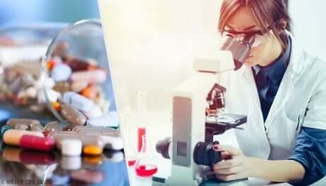 Une chercheuse étudie les médicaments photosensibles.