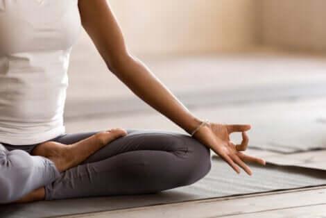 Position de méditation.